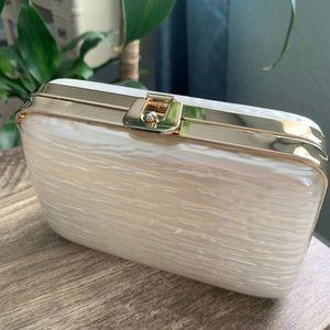 Vintage Pearl Lucite Evening Bag Clutch